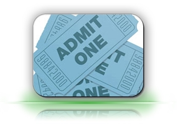 admit one tickets for points map menus, navigate, Features, map, wayfinding