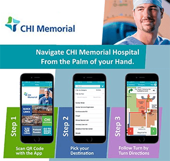 Chi Memorial Medical hospital Cell Phone, navigate, PointsMap, Features, map, wayfinding