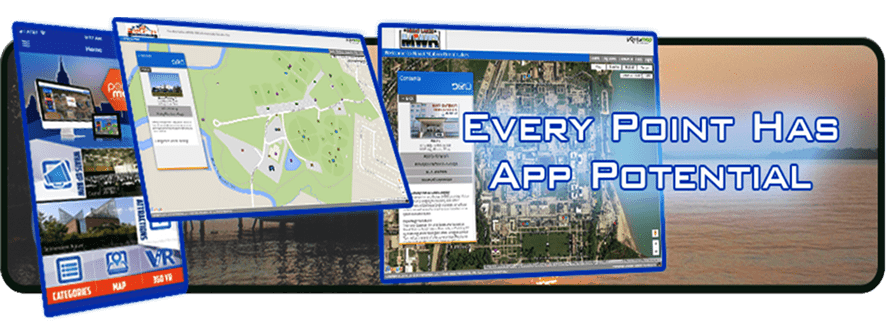 Graphic every app has a point Cell Phone, navigate, PointsMap, Features, map, wayfinding