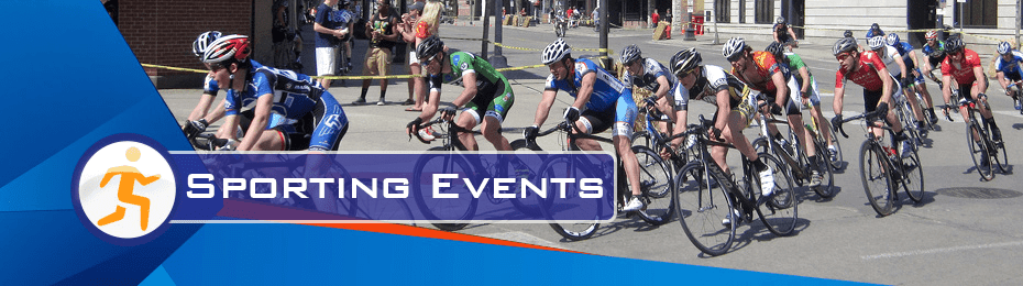 Cycling and sporting events are perfect for pointsmap for Cell Phones, navigation, maps, wayfinding.