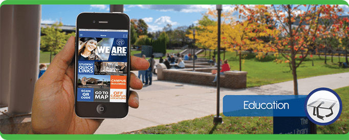 education Tablet Cell Phone, navigate, PointsMap, Features, map, internal wayfinding campus school