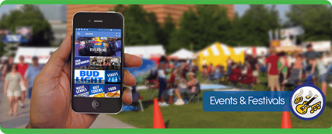 festival Tablet Cell Phone, navigate, PointsMap, Features, map, internal wayfinding