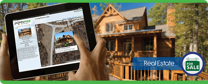 realestate Tablet Cell Phone, navigate, PointsMap, Features, map, internal wayfinding