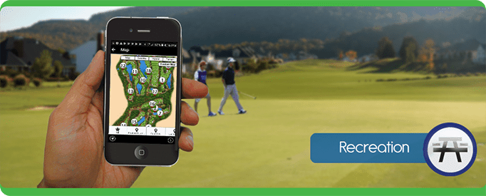 recreation Tablet Cell Phone, navigate, PointsMap, Features, map, internal wayfinding golf