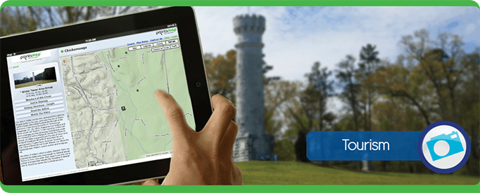 tourism tower Tablet Cell Phone, navigate, PointsMap, Features, map, internal wayfinding