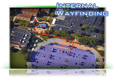 go to internal way finding satelite map