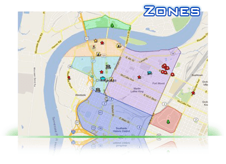 Map of how it works zones for pointsmap,