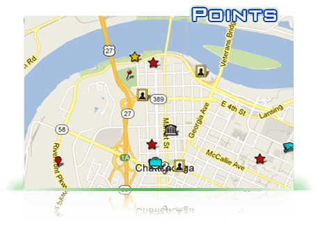 Map of how it works points for pointsmap,